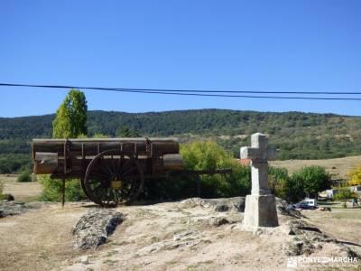 Azud y nacimiento Acueducto de Segovia; raquetas de nieve el tiemblo piedralaves miradores madrid